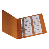 Q-Connect Punched Business Card Pocket Polypropylene A4 Capacity 20 (Pack of 10) KF00716