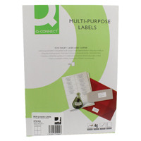 Q-Connect White Multipurpose Label 105 x 148mm 4 Per Sheet Pack of 400 KF01004
