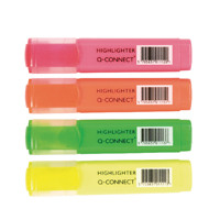 Q-Connect Assorted Highlighter Pens (Pack of 4) KF01116