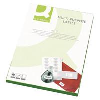 Q-Connect White Multipurpose Label 105 x 42mm Butt Cut 14 Per Sheet Pack of 1400 KF01131