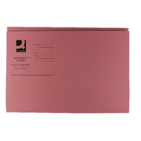 Q-Connect Pink Square Cut Folder Medium Weight 250gsm Foolscap (Pack of 100) KF01187