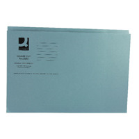 Q-Connect Blue Square Cut Folder Medium Weight 250gsm Foolscap (Pack of 100) KF01191