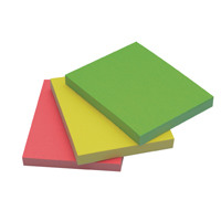 Q-Connect Repositionable 38 x 51mm Neon Quick Notes Pack of 3 KF01224