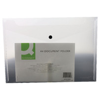 Q-Connect A4 Clear Polypropylene Popper Folder Pack of 12 KF01244Q