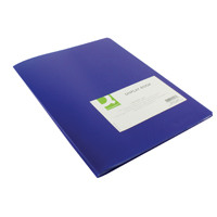 Q-Connect 10 Pocket Blue Display Book KF01247