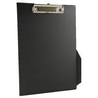 Q-Connect Black A4/Foolscap PVC Clipboard KF01296