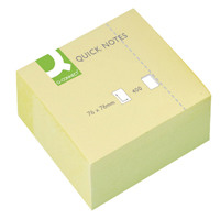 Q-Connect Quick Notes Cube 76x76mm Yellow KF01346