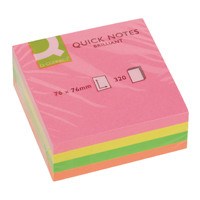 Q-Connect Quick Notes Cube 76x76mm Neon KF01348