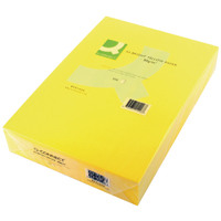 Q-Connect Bright Yellow Coloured A4 Copier Paper 80gsm Ream (Pack of 500)