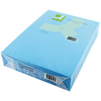 Q-Connect Bright Blue Coloured A4 Copier Paper 80gsm Ream (Pack of 500)