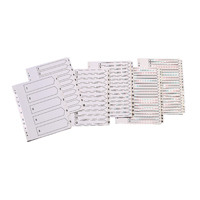 Q-Connect Multi-Punched 1-5 Reinforced White Board A4 Index Clear Tabbed KF01527