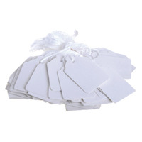 48x30mm White Strung Ticket (Pack of 1000) KF01620