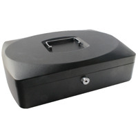 Q-Connect 10 inch Black Cash Box