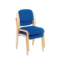 Jemini Wood Frame Side Chair No Arms Blue KF03512