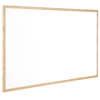 Q-Connect Wooden Frame Whiteboard 900x1200mm KF03572