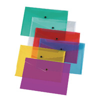 Q-Connect A4 Assorted Polypropylene Popper Folder Pack of 12 KF03599