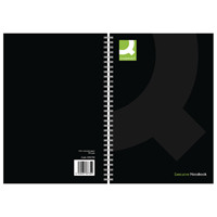 Q-Connect Black A5 Wirebound Book (Pack of 3) KF03730