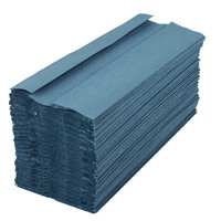 2Work Blue 1 Ply C-Fold Hand Towel (Pack of 2880) HC128BL