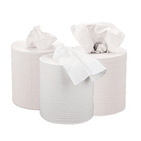 2Work White 2 PlyCentrefeed Roll 150 Metres (Pack of 6) KF03804