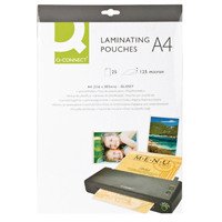 Q-Connect A4 Laminating Pouch 250 Micron (Pack of 25) KF04120