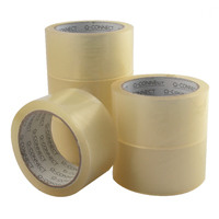Q-Connect Low Noise Polypropylene Packaging Tape 50mm x 66m Clear Pack of 6 KF04382