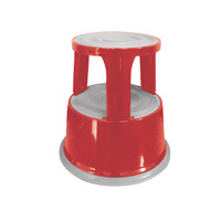 Q-Connect Metal Step Stool Red KF04843