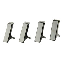 Q-Connect Executive Letter Tray Risers Black Pack of 4 CP009KFBLK