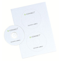 Q-Connect CD/DVD Label 2 per A4 Sheet Pack of 100 KF05599
