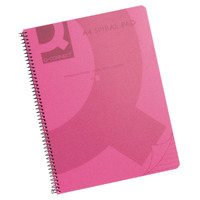 Q-Connect Spiral Bound Polypropylene A4 Notebook 160 Pages Red (Pack of 5) KF10038