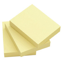 Q-Connect Repositionable 51x76mm Yellow Quick Notes (Pack of 12) KF10501