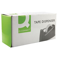 Q-Connect Desk Tape Dispenser For 33 and 66 Metre Tapes Black KF11010