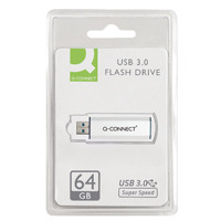 Q-Connect Silver/Black USB 3.0 Slider 64Gb Flash Drive 43202005 KF16371