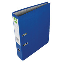 Q-Connect Blue Foolscap Paperbacked Lever Arch File (Pack of 10) KF20030