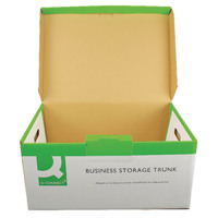 Q-Connect White Business Storage Trunk (Pack of 10) KF21663