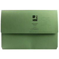 Q-Connect Foolscap Green Document Wallet Pack of 50 KF23012