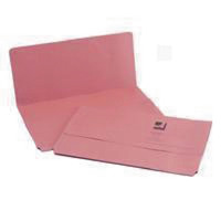 Q-Connect Foolscap Pink Document Wallet Pack of 50 KF23015