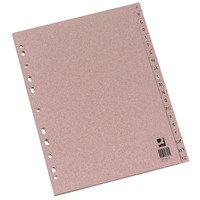 Q-Connect Buff A4 Index Multi-Punched A-Z 20-Part Manilla KF26011
