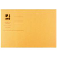 Q-Connect Orange Square Cut Folder Lightweight 180gsm Foolscap (Pack of 100) KF26030