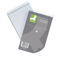 Q-Connect Shorthand Notebook Feint Ruled 203x127mm 300 Pages (Pack of 10) 31002