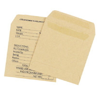 Q-Connect Wage Envelope 108x102mm Printed 90gsm Manilla Self Seal (Pack of 1000) KF3430
