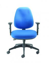 Cappela Wave Radial High Back Posture Blue Chair  KF71359