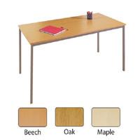 Jemini 1200x800mm Maple Rectangular Table KF72372