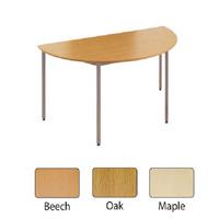 Jemini Semi-Circular Table 1600mm Maple KF72384