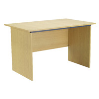 Jemini Intro Panel End Desk 1000mm Ferrera Oak KF74126