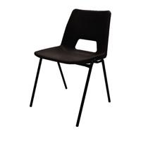 Jemini Polypropylene Stacking Black Chair KF74957