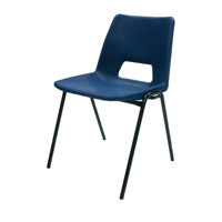 Jemini Polypropylene Stacking Blue Chair KF74958