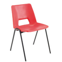 Jemini Polypropylene Stacking Red Chair KF74961