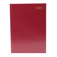 A4 Day/Page Appointments 2018 Burgundy Desk Diary KFA41ABG18