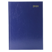 A4 Day/Page Appointments 2018 Blue Desk Diary KFA41ABU18