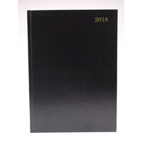 A5 Day/Page Appointments 2018 Black Desk Diary KFA51ABK18